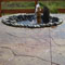 Custom stamped concrete patio by Backyards Plus.