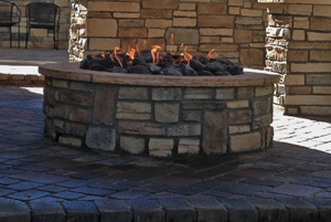 Backyards Plus custom fire pits in the front range.