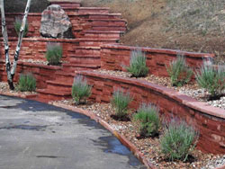 Strong and beautiful retaining walls from Backyards Plus