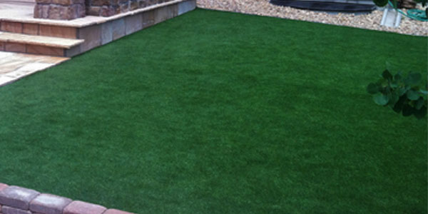 Artificial grass yard in Castle Rock, CO.