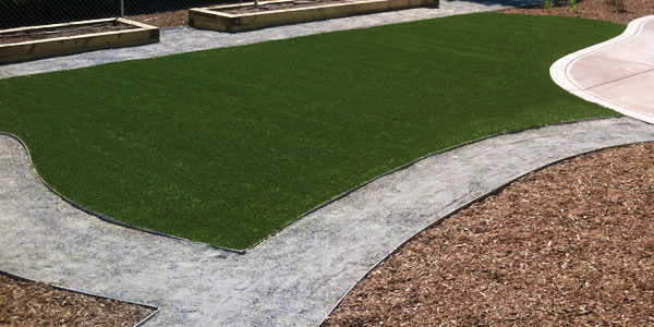 No weekly maintenance with fake grass in Denver, CO.