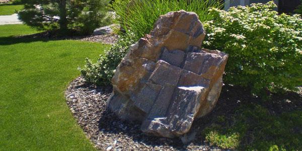 Decorative boulder Denver, CO.