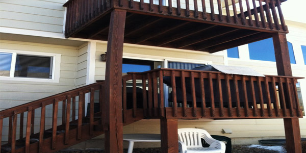 Two story deck.