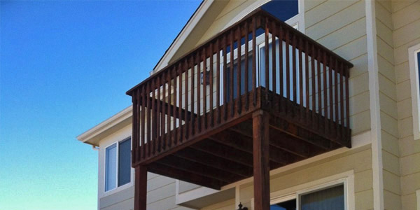 Second story deck off of bedroom.