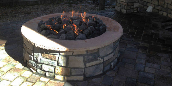Backyards Plus designs and installs natural gas fire pits of all shapes and sizes for the Denver, CO market.