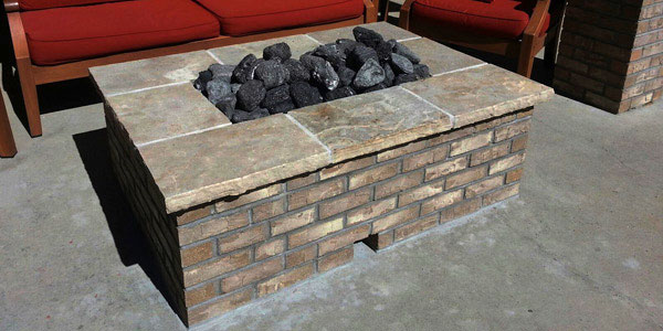 Outoor living Colorado style with a natural gas fire pit.