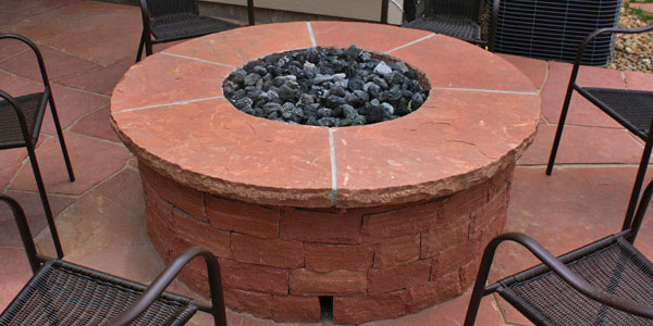 Natural gas fire pits for the Denver, CO area by Backyards Plus.