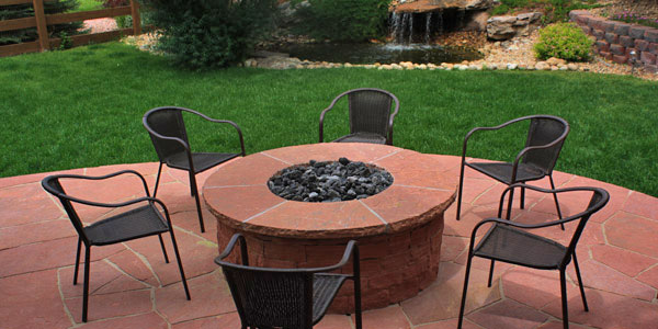 Entertain year round a backyard fire pit.