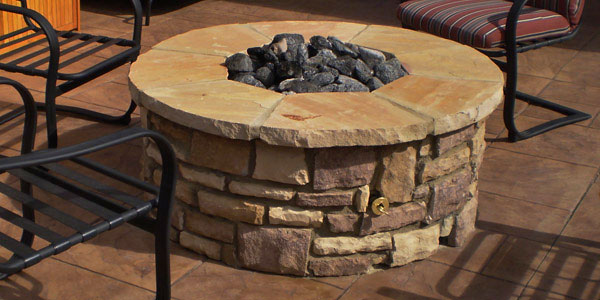 Dry stack style fire pit in Larkspur, CO.