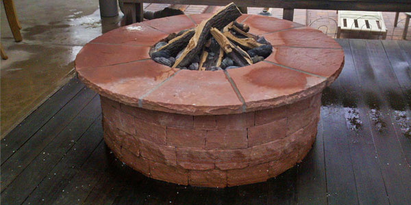 Fire pit installation Genesee, CO.