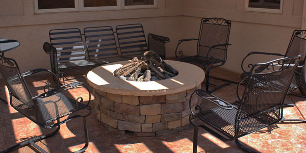 Colorado natural gas fire pit.