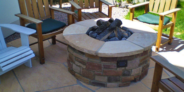 Custom natural gas fire pits by Backyards Plus near Denver, CO.