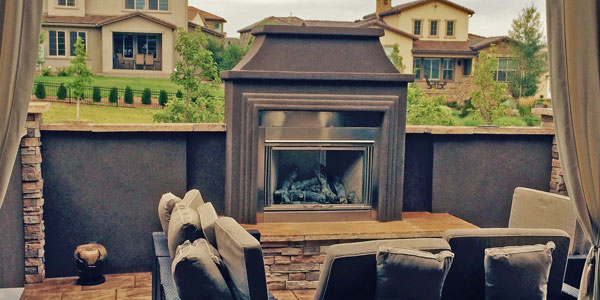 Custom outdoor fireplaces by Backyards Plus in the Denver, CO area.