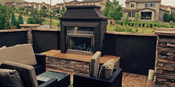 Outdoor fireplace installers Golden, CO.