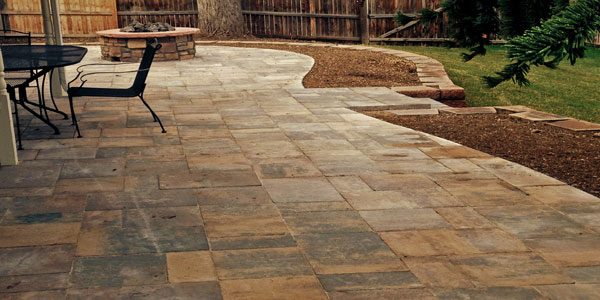 Beautiful stone patios by Backyards Plus in Denver, CO.