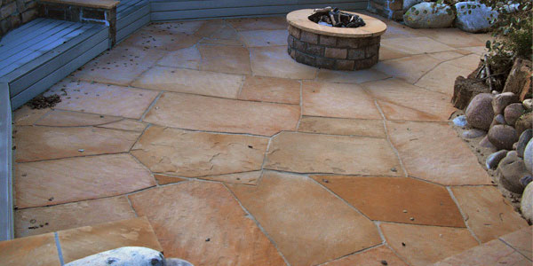 Custom flagstone patios Denver, CO.