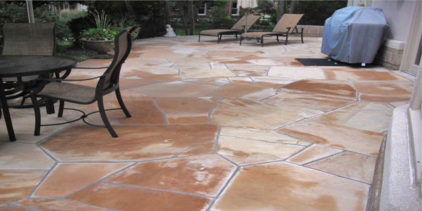 Flagstone patio installers.