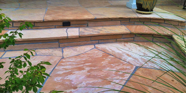 Flagstone installation in Denver, CO.