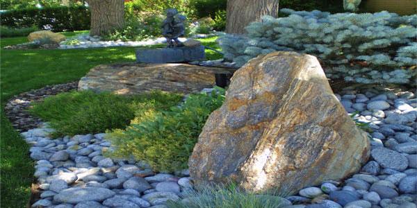 Denver, CO rock garden project.