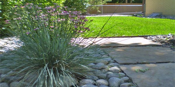 Landscaping and hardscaping by Backyards Plus.
