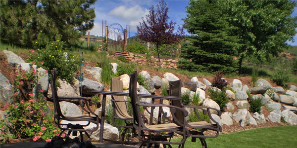 Large landscaping project by Backyards Plus.