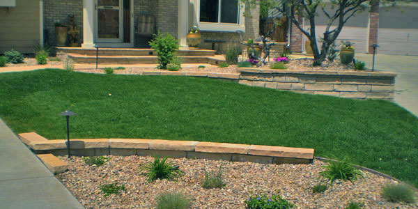 Landscaping combined with hardscaping in Lakewood, CO.