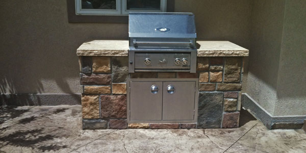 Built-in grills for outdoor living spaces in the Denver, CO area.