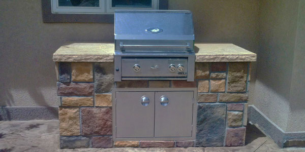Stand alone built in grill in Denver.