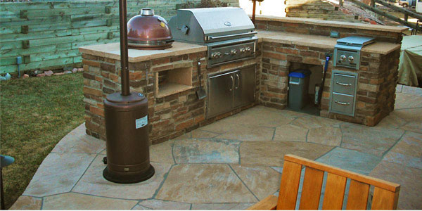 Outdoor kitchen in Golden, CO.