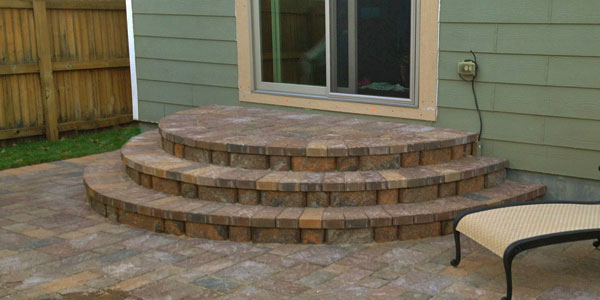 Custom paver installation by Backyards Plus in Denver, CO.