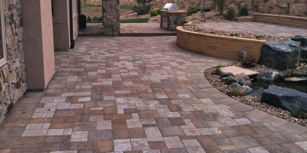 Paver installation in Golden, CO.