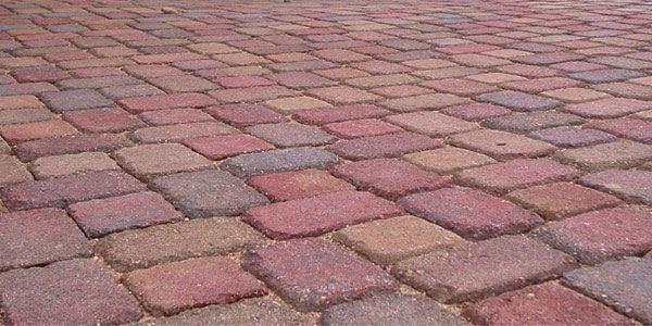 Close up of paver installation by Backyards Plus.