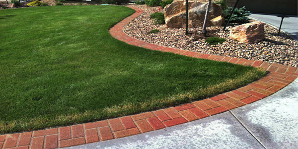 Hardscaping accents in Colorado landscaping.