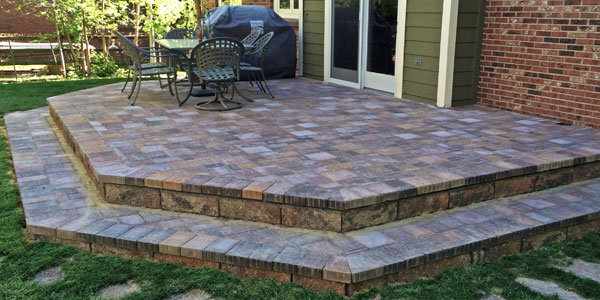 Beautiful paver patio installed by Backyards Plus.