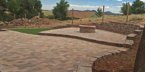 Large paver patio installation services around Denver and the Front Range.
