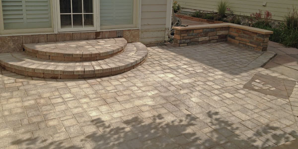 Hardscaping installation by Backyards Plus.