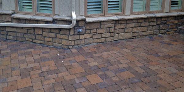 Backyard paver installation in Denver, CO.