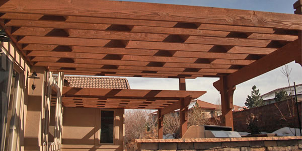Shade structures for Colorado's intense sun.