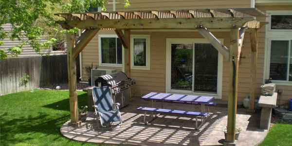 Backyard pergolas by Backyards Plus.