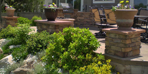 Backyards Plus installs pillars for outdoor living spaces in Denver and along the Front Range.