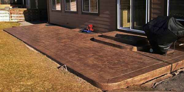 Stamped concrete and be installed in Denver almost year round.